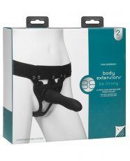 Body Extensions Be Strong 2 Piece Strap On Set - Black