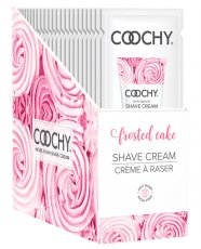 COOCHY SHAVE CREAM FROSTED CAKE FOIL 15 ML 24PC DISPLAY