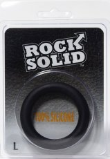 (WD) ROCK SOLID SILICONE BLACK RING LARGE