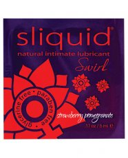 Sliquid Swirl Lubricant Pillow - .17 oz Strawberry Pomegranate