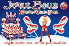 JINGLE BALLS HOLIDAY COCK POPS 12PC DISPLAY