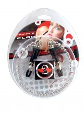 (WD) H2H NIPPLE CLAMPS BARREL W/CHAIN CHROME