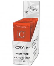 COOCHY SHAVE CREAM TROPICAL TEASE 24PC DISPLAY