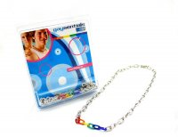 RAINBOW & SILVER LINKS NECKLACE 20 ""