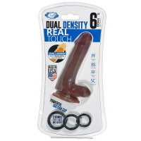 CLOUD 9 DUAL DENSITY REAL TOUCH 6IN W/ BALLS BROWN
