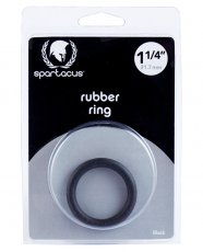"Spartacus 1.25"" Rubber Cock Ring - Black"