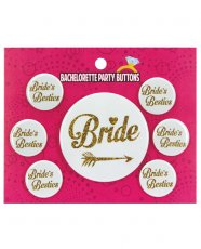 Bachelorette Party Button Bride/Bride's Besties