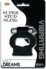 WET DREAMS SUPER STUD SLING BLACK