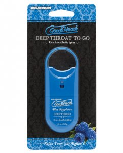 GOODHEAD DEEP THROAT SPRAY TO GO BLUE RASPBERRY