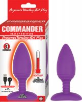 COMMANDER BEGINNER'S VIBRATING HOT PLUG-PURPLE
