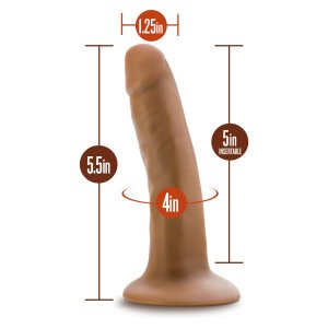 DR SKIN 5.5 COCK W/ SUCTION CUP MOCHA ""