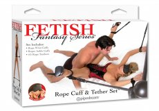 FETISH FANTASY ROPE CUFF AND TETHER SET