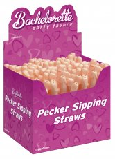 BACHELORETTE PECKER STRAWS(144 PC DISP)