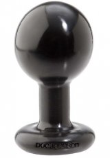 ROUND BUTT PLUG MEDIUM BLACK