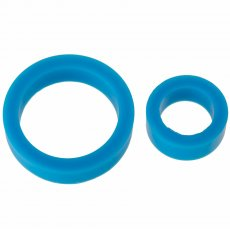 (WD) TITANMEN COCK RINGS DOUBL PACK SILICONE BLUE