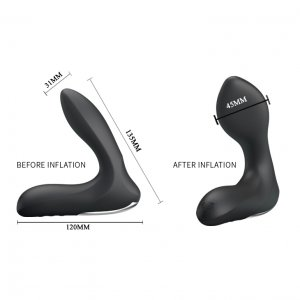 PRETTY LOVE ANAL STIMULATOR INFLATABLE RECHARGEABLE BLACK
