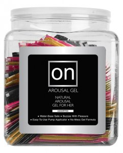 On for Her Arousal Gel Single Use Packet Tub - Asst. Flavor