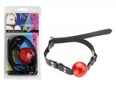 1 1/2 RED BALL GAG W/ D RING