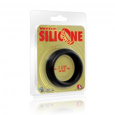 WIDE SILICONE DONUT BLACK 1.5IN