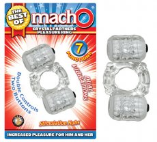 BEST OF MACHO CRYSTAL PARTNERS PLEASURE RING CLEAR