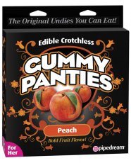 Edible Crotchless Gummy Panty - Peach