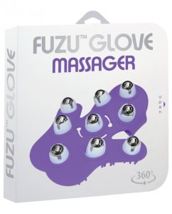 Fuzu Glove Massager - Neon Purple