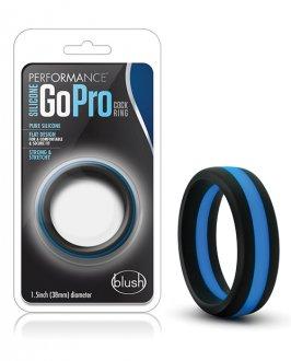 Blush novelties EWH Blush Performance Silicone Go Pro Cock Ring - Black/Blue