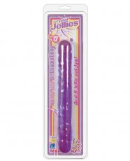 "Crystal Jellies 12"" Jr. Double Dong - Purple"