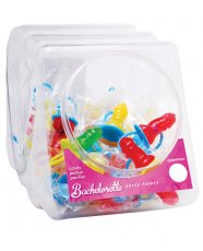 Bachelorette Party Favors Candy Pecker Pacifier Ring - Bowl of 48