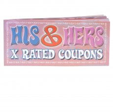 HIS & HERS X RATED COUPON EA