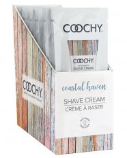 COOCHY SHAVE CREAM COASTAL HAVEN FOIL 15ML 24PC DISPLAY