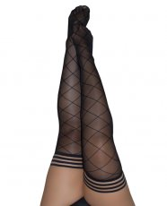 Kix'ies Anna Sheer Diamond Thigh High Black D