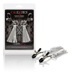 NIPPLE PLAY PLAYFUL TASSELS NIPPLE CLAMPS SILVER