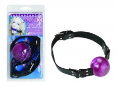(WD) 2IN PURPLE BALL GAG W/ BU