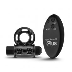 PERFORMANCE PLUS THUNDER WIRELESS REMOTE RECHARGEABLE VIBRATING COCKRING BLACK