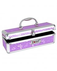 Lockable Vibrator Case - Purple