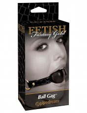 FETISH FANTASY GOLD BALL GAG BLACK