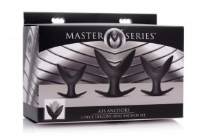 MASTER SERIES ASS ANCHORS 3 PC SILICONE ANAL ANCHOR SET
