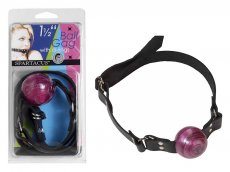 1 1/2 IN PURPLE BALL GAG W/ BUCKLE