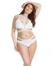 Racer Back Pull Over Bralette & Full Back Panty White XL