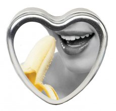 CANDLE 3-IN-1 HEART EDIBLE BANANA DAIQUIRI 4.7 OZ