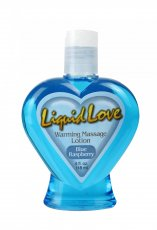 LIQUID LOVE WARMING MASSAGE LOTION COOL BLUE RASP.