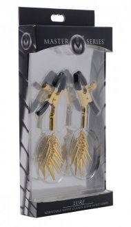 MASTER SERIES LURE ADJUSTABLE NIPPLE CLAMPS W/GOLD SPIKES