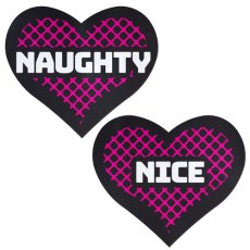 PASTEASE NAUGHTY & NICE HEART BLACK & PINK
