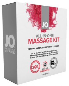 JO ALL IN ONE MASSAGE GLIDE KIT WARMING SILICONE BASED 1 OZ