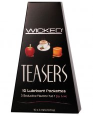 WICKED TEASERS 10 LUBRICANT PACKETS