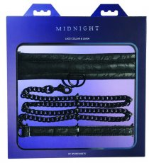 MIDNIGHT LACE COLLAR & LEASH