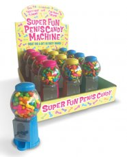 Super Fun Penis Candy Machines - Display of 12