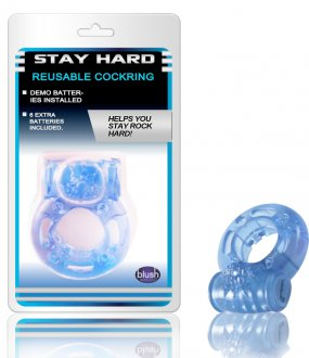 REUSABLE VIBRATING COCKRING BLUE
