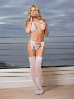 BRA GARTER & GSTRING WHITE MEDIUM